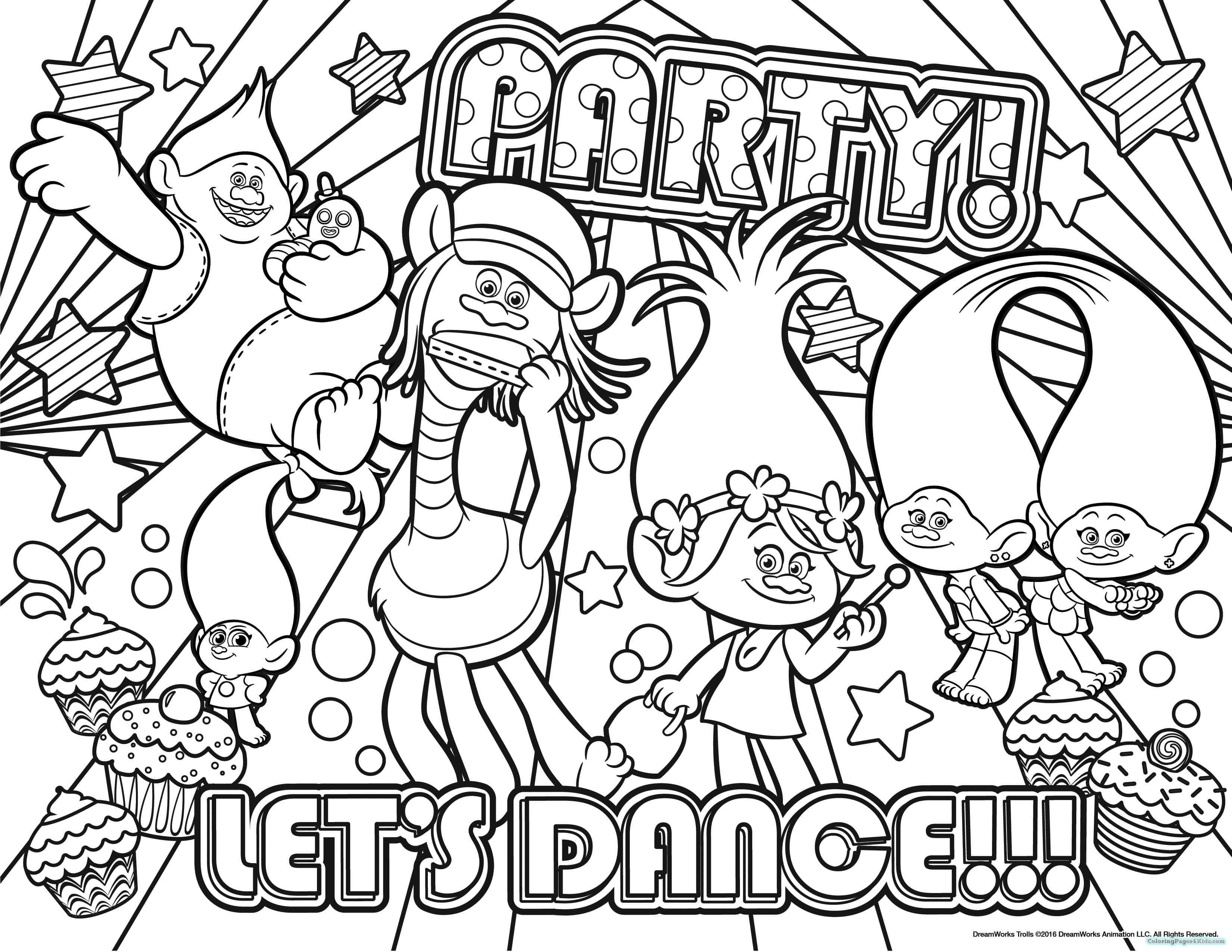 coloring sheet trolls trolls dreamworks coloring pages coloring pages for kids coloring trolls sheet