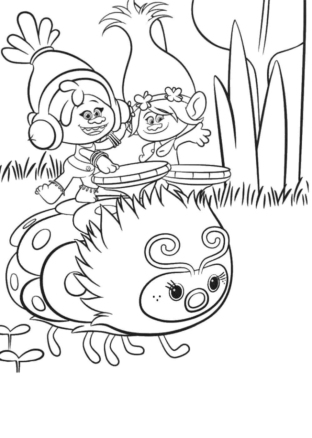 coloring sheet trolls trolls holiday movie coloring pages trolls coloring sheet 1 1