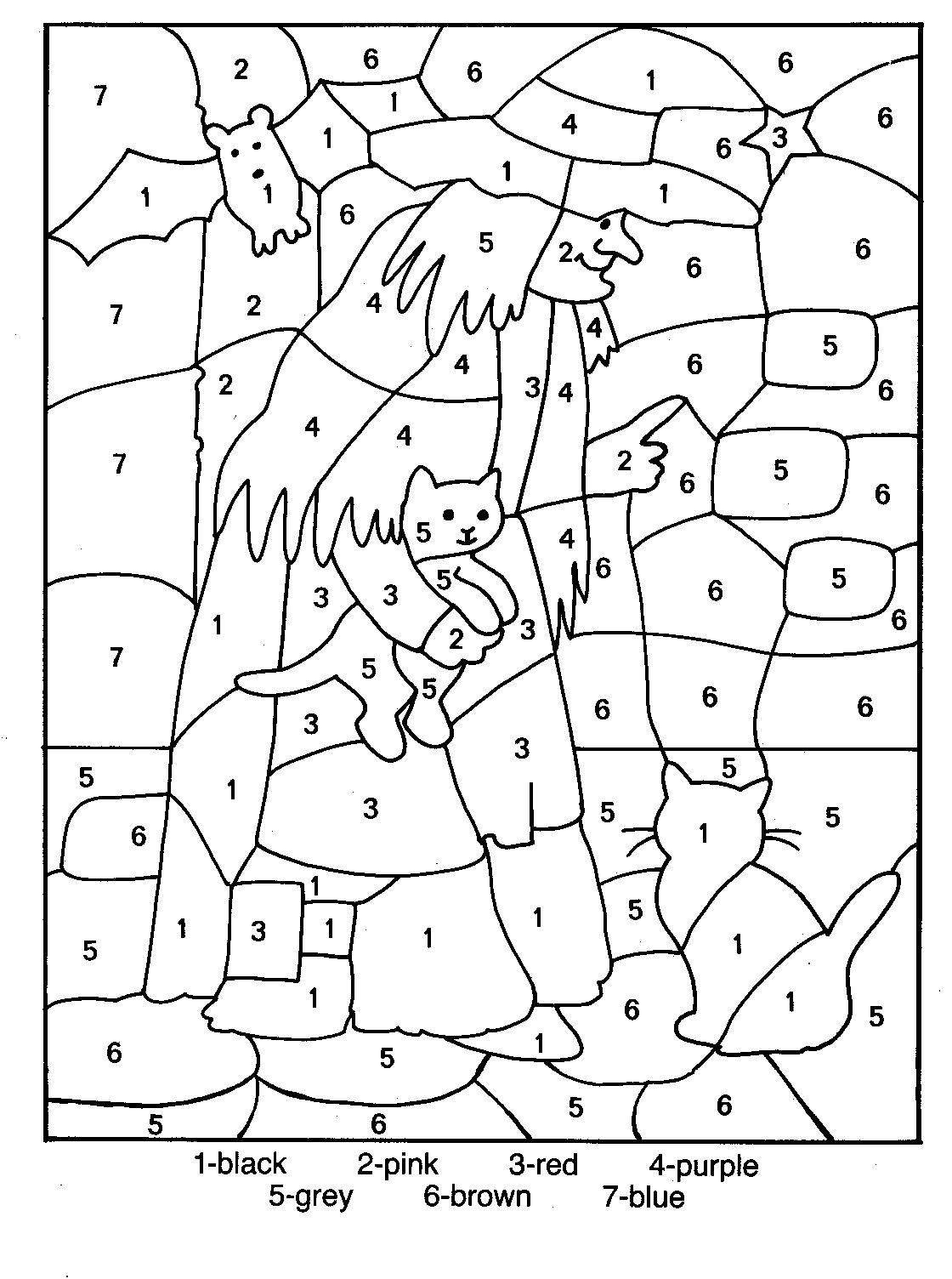 coloring sheets color by number color by number little fairy coloring page for kids color sheets number by coloring