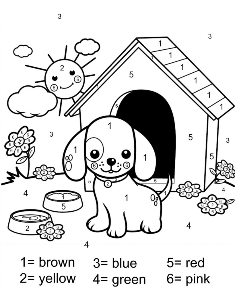 coloring sheets color by number color by number monkey stock illustration download image sheets color number coloring by