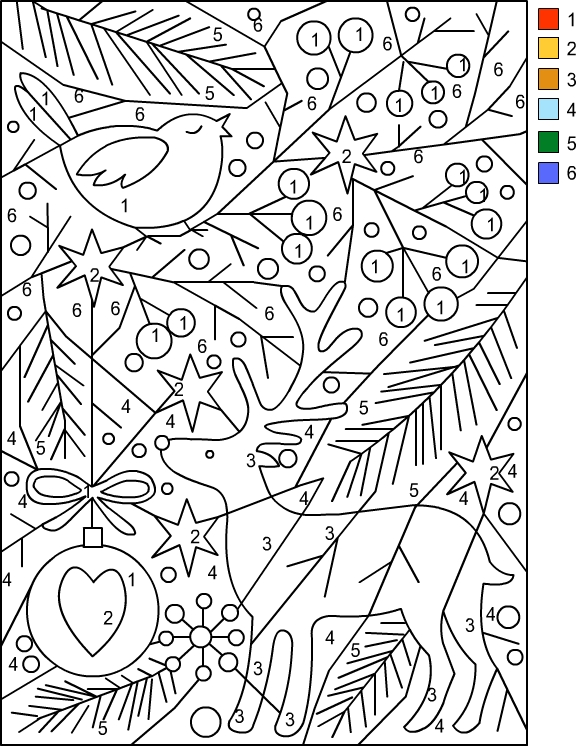 coloring sheets color by number nicole39s free coloring pages christmas color by number sheets color number by coloring