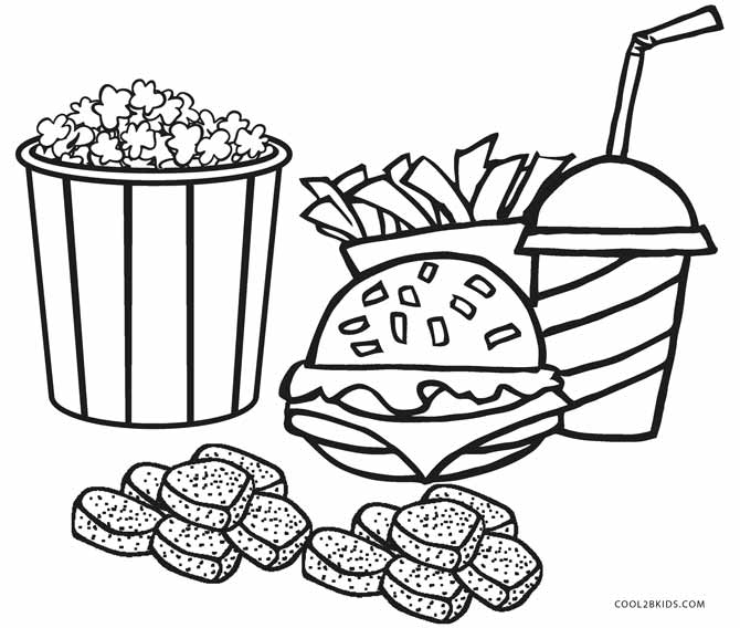 coloring sheets easy food 7 best images of printable pictures of breakfast food easy sheets food coloring