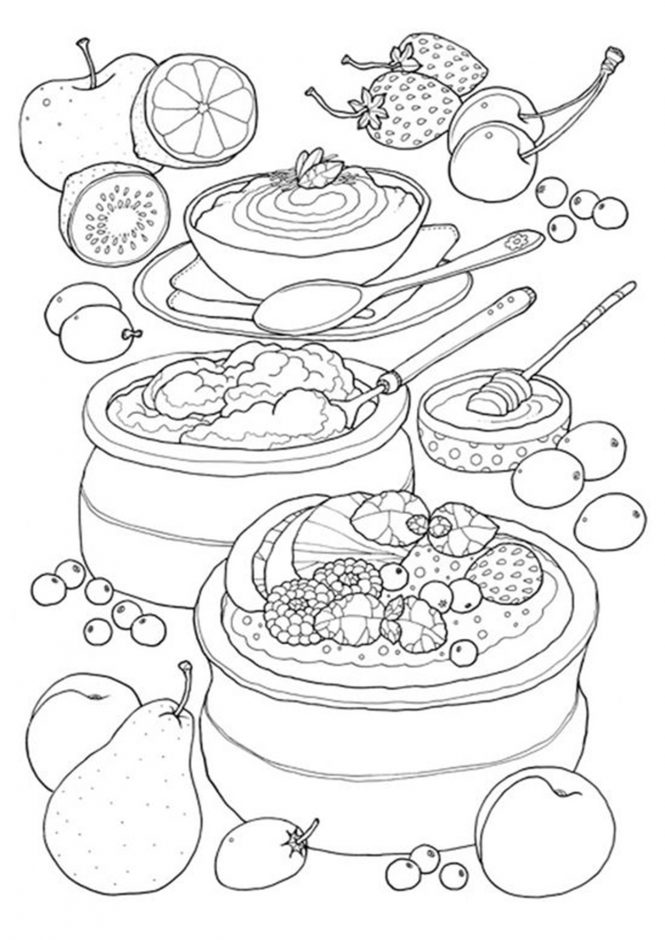 coloring sheets easy food food and meals coloring pages crafts and worksheets for coloring food sheets easy