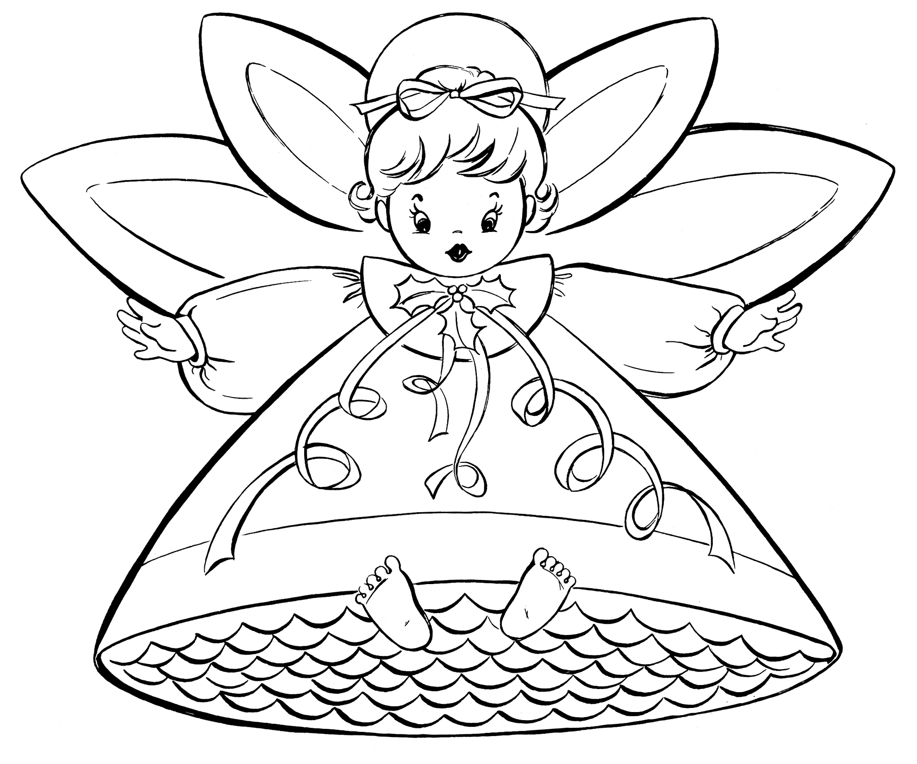 coloring sheets for christmas free christmas coloring pages retro angels the for christmas sheets coloring