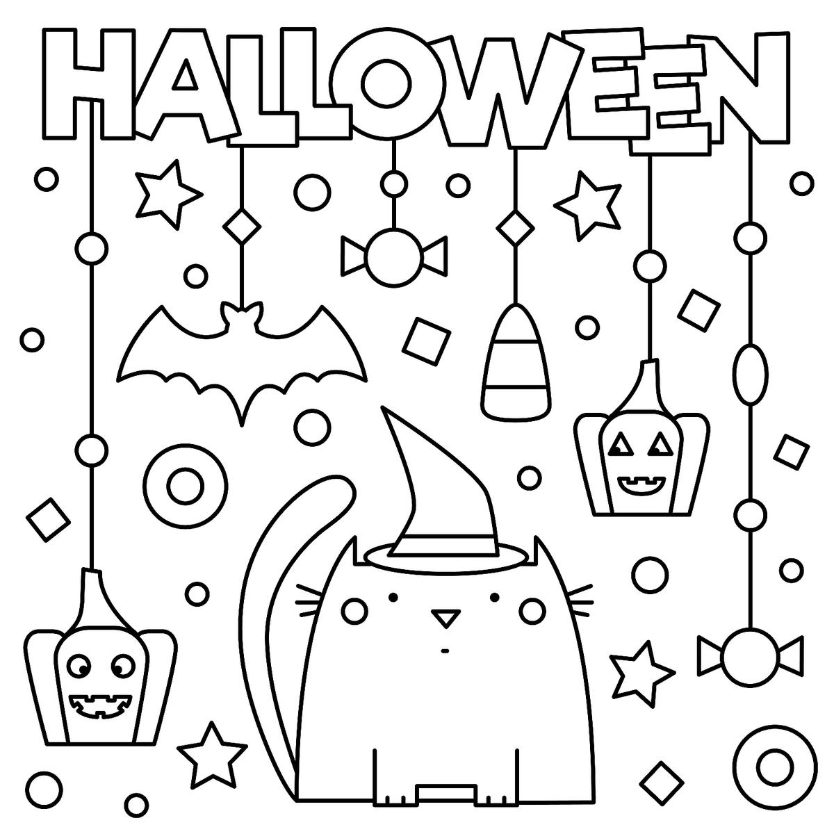 coloring sheets halloween halloween coloring pages 10 free spooky printable sheets coloring halloween