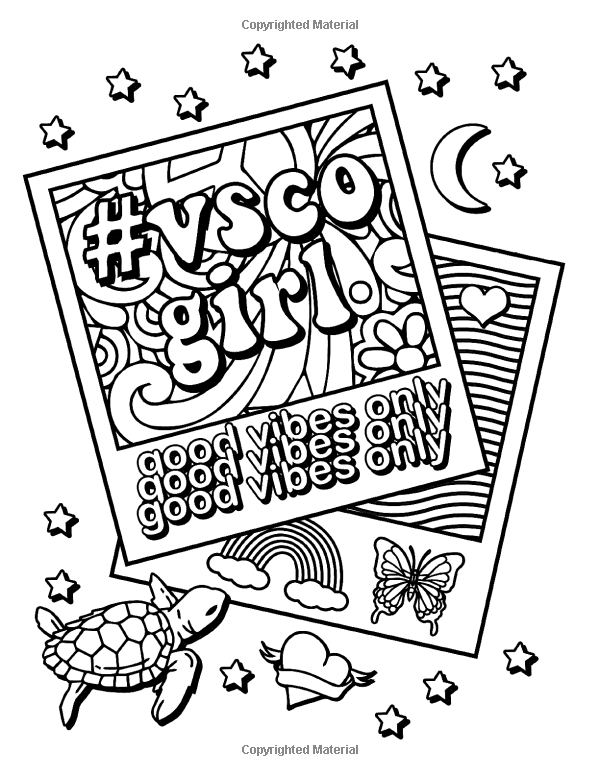 coloring sheets vsco amazoncom vsco girl coloring book for trendy confident vsco sheets coloring