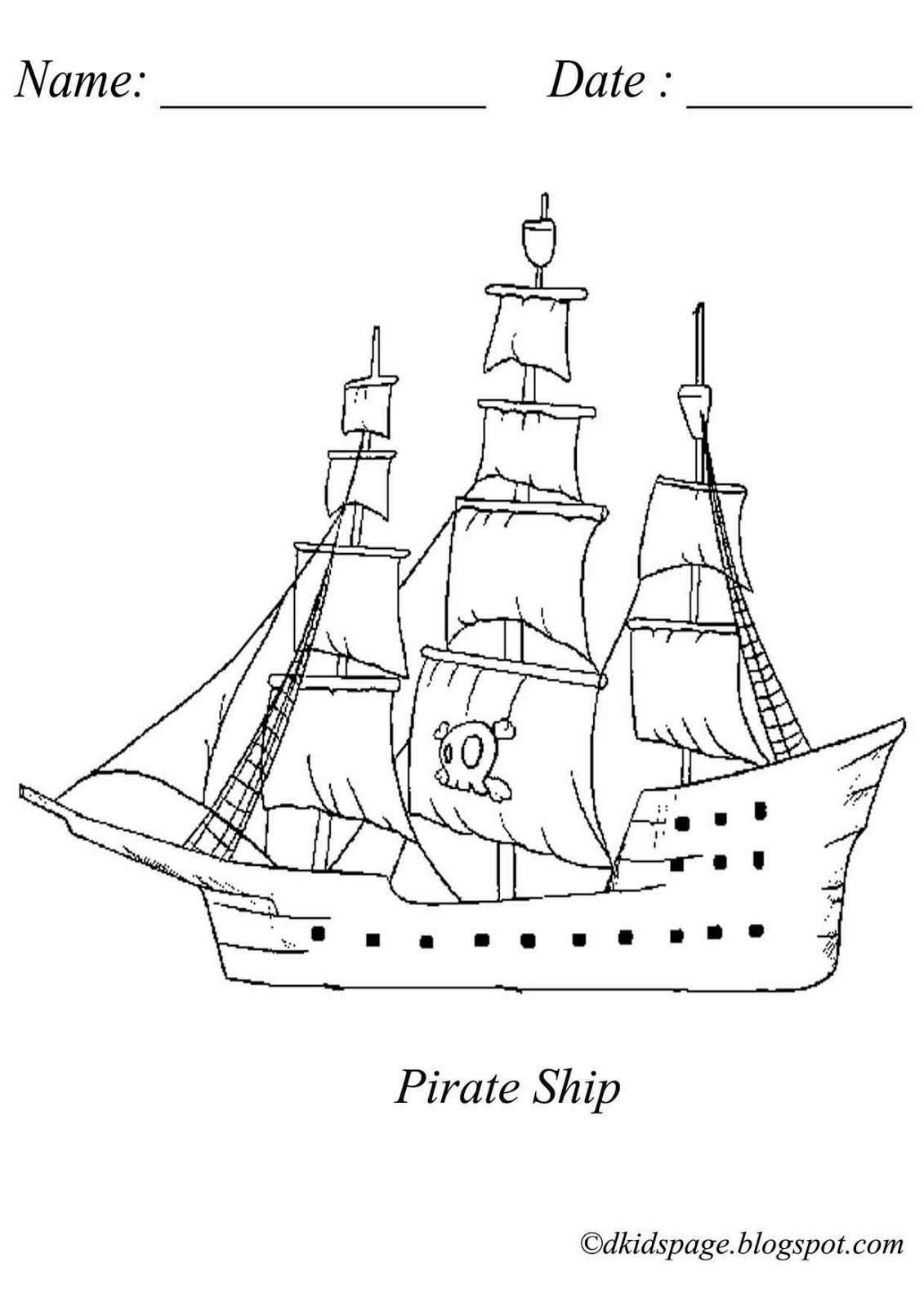 coloring ship for kids coloring picture of pirate ship download free printable ship kids for coloring