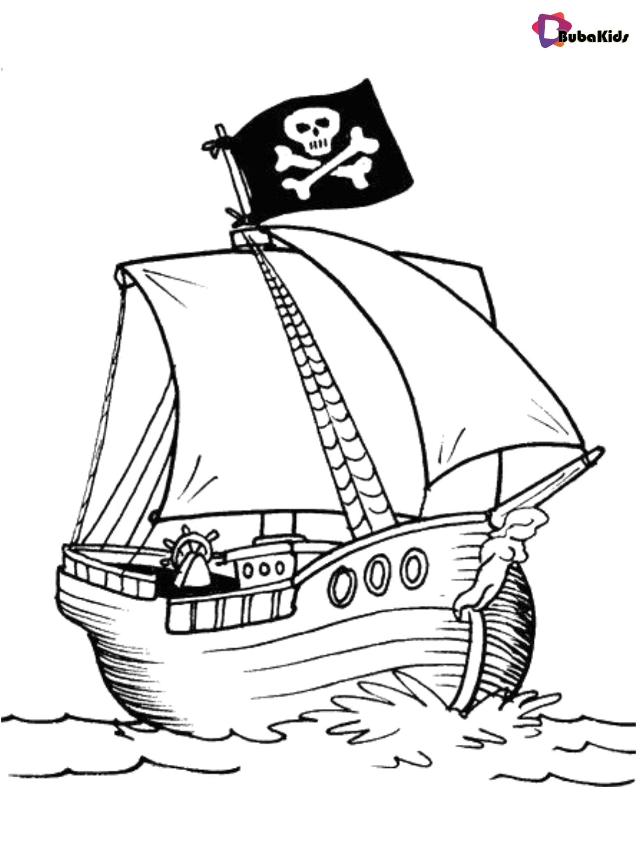 coloring ship for kids coloring picture pirate ship free printable bubakidscom coloring kids ship for