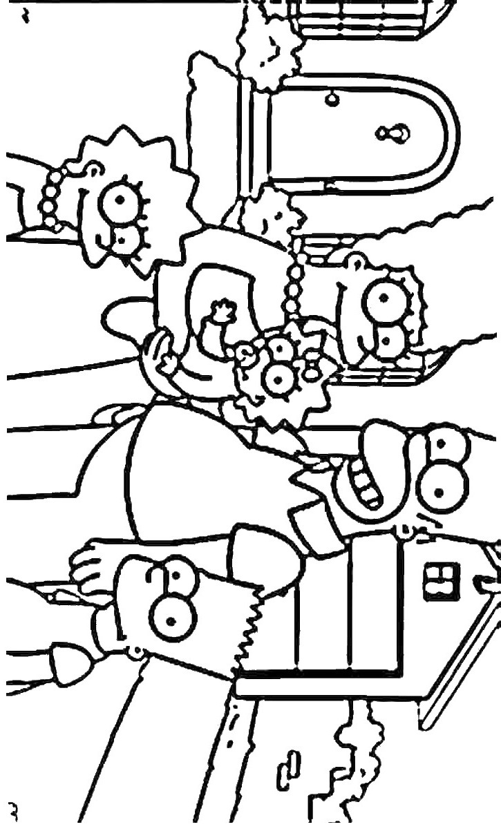 coloring simpsons bart simpson the simpsons version coloring page coloring simpsons