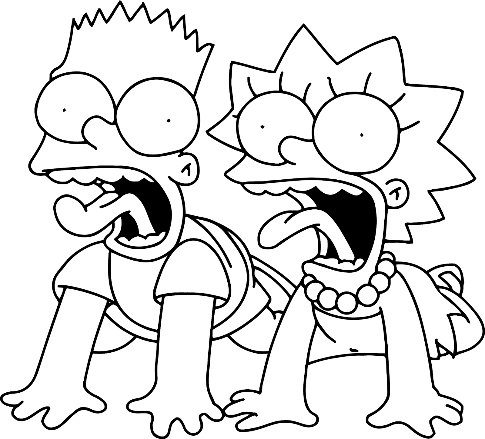 coloring simpsons free printable simpsons coloring pages for kids simpsons coloring