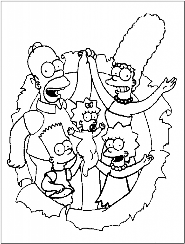 coloring simpsons free printable simpsons coloring pages for kids simpsons coloring 1 1