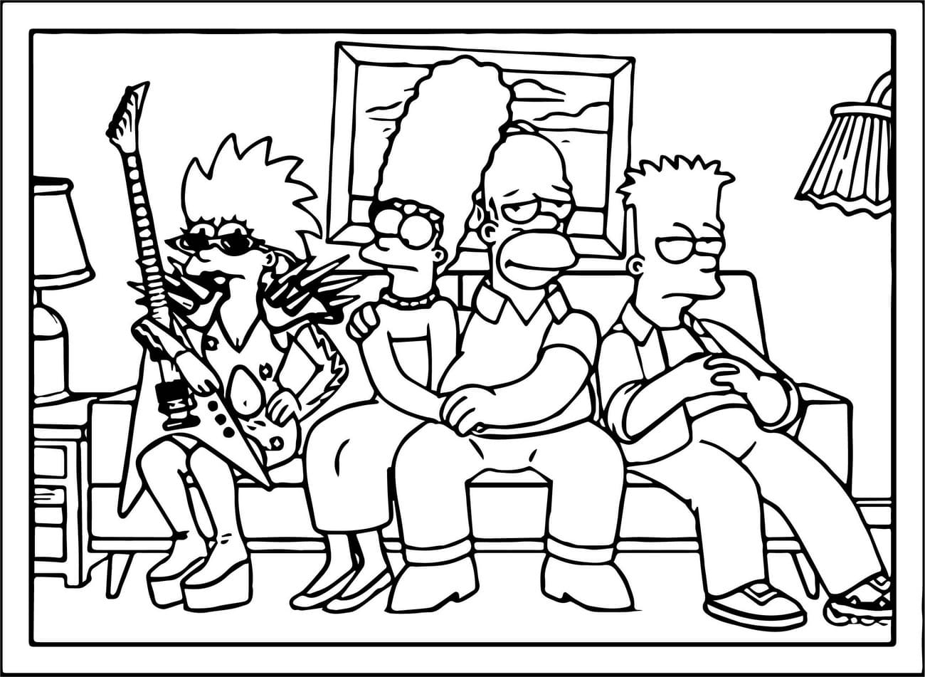 coloring simpsons simpson coloring pages to download and print for free simpsons coloring 1 1