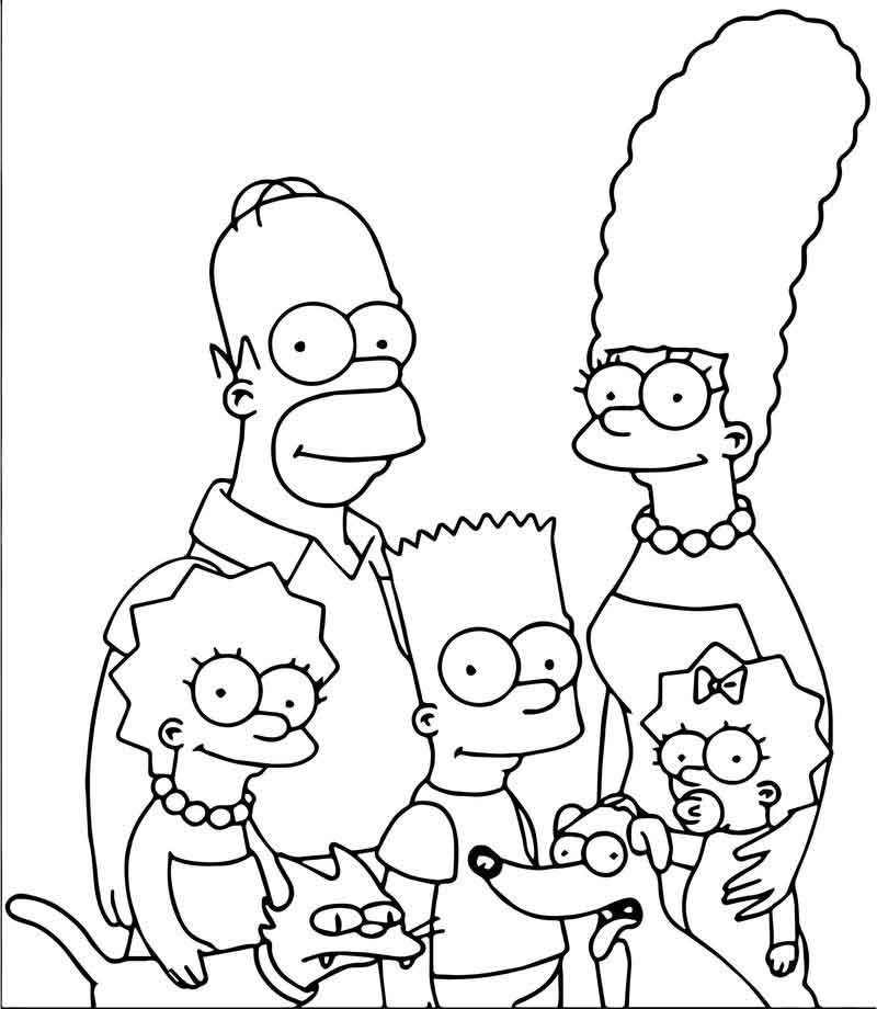coloring simpsons simpson coloring pages wecoloringpagecom simpsons coloring