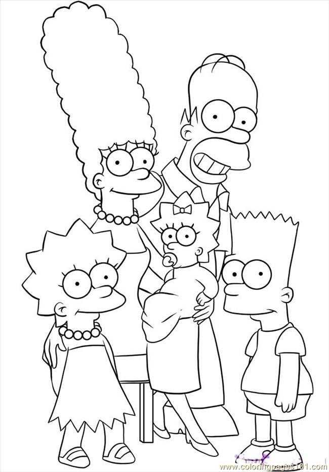 coloring simpsons simpsons coloring pages coloringpages1001com coloring simpsons