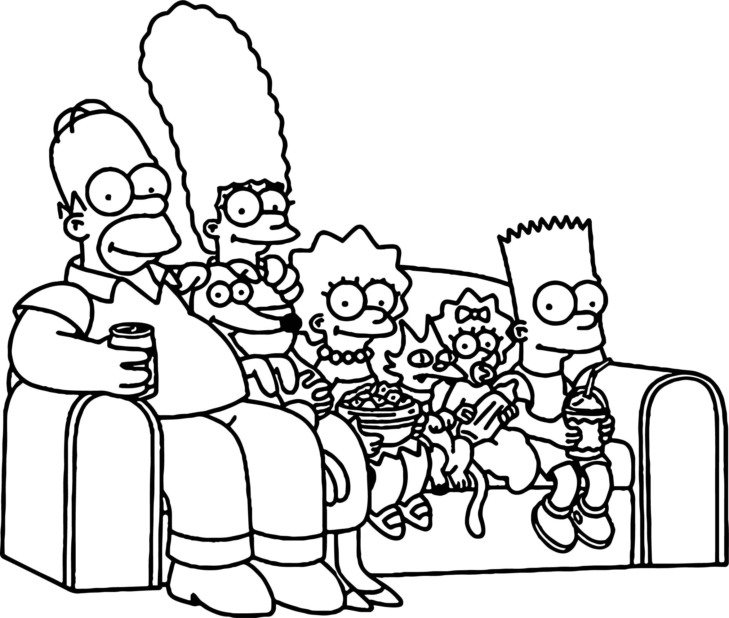 coloring simpsons simpsons free coloring pages kerra coloring simpsons