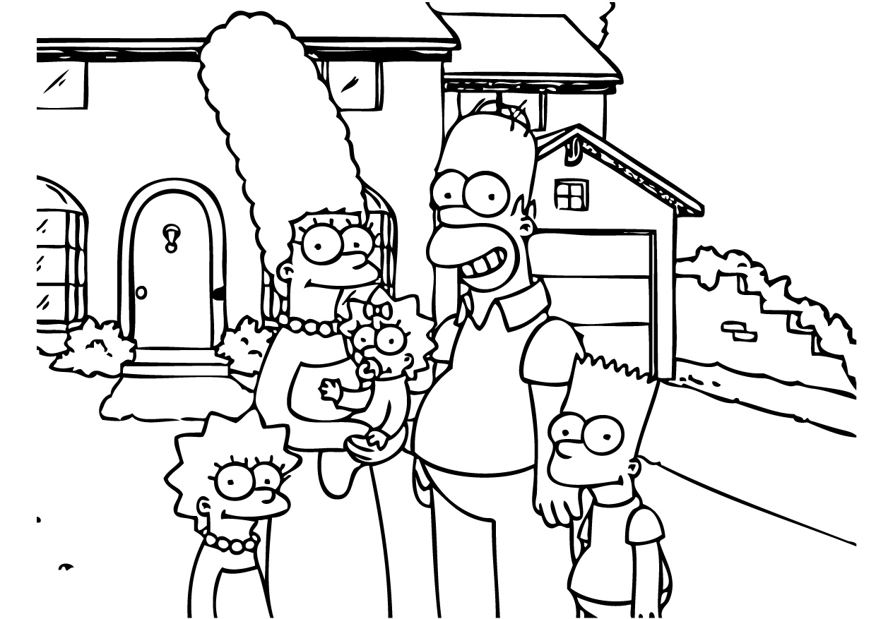 coloring simpsons the simpsons coloring page 140 wecoloringpagecom coloring simpsons