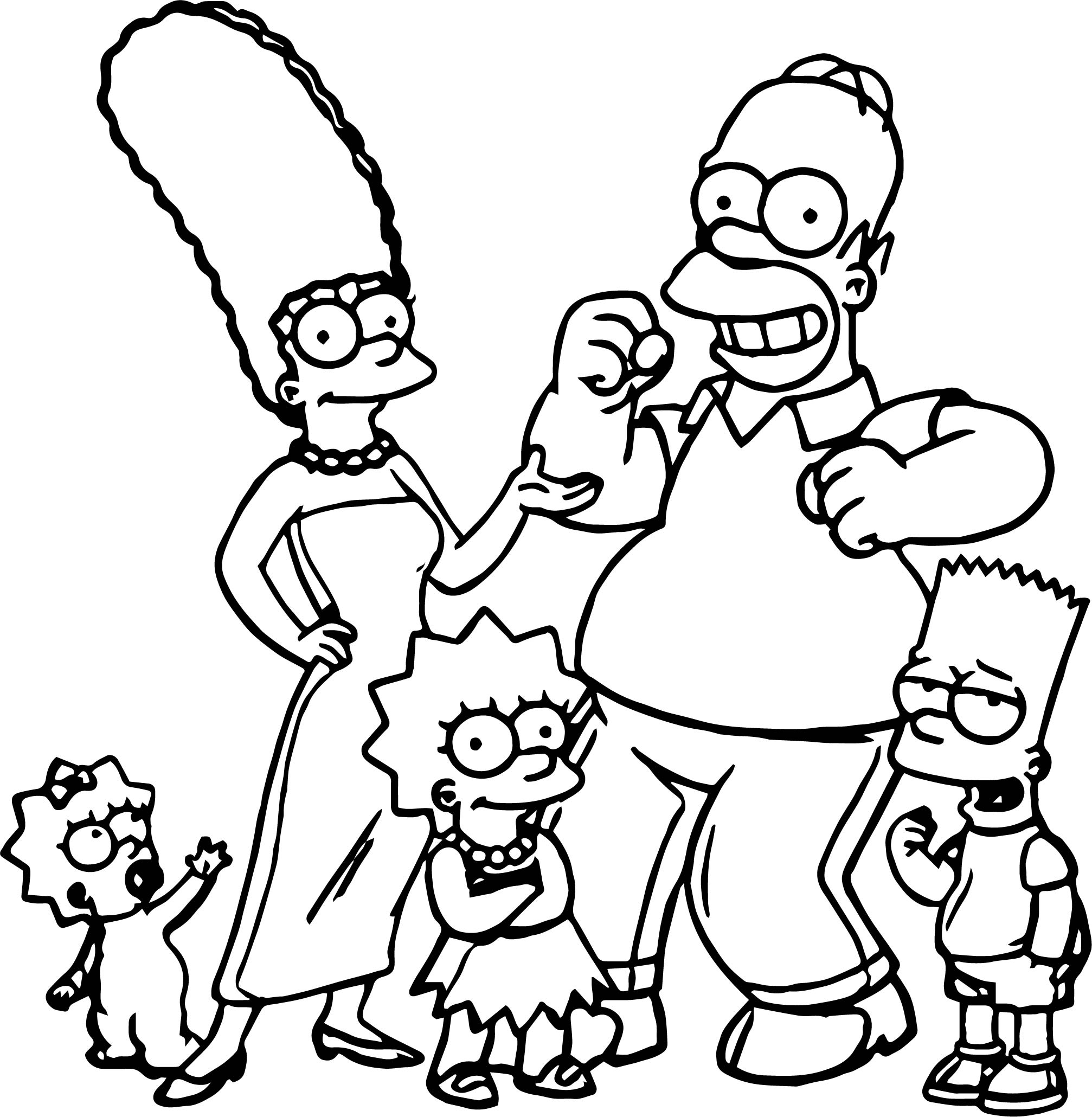 coloring simpsons the simpsons coloring pages 100 free images for printing simpsons coloring