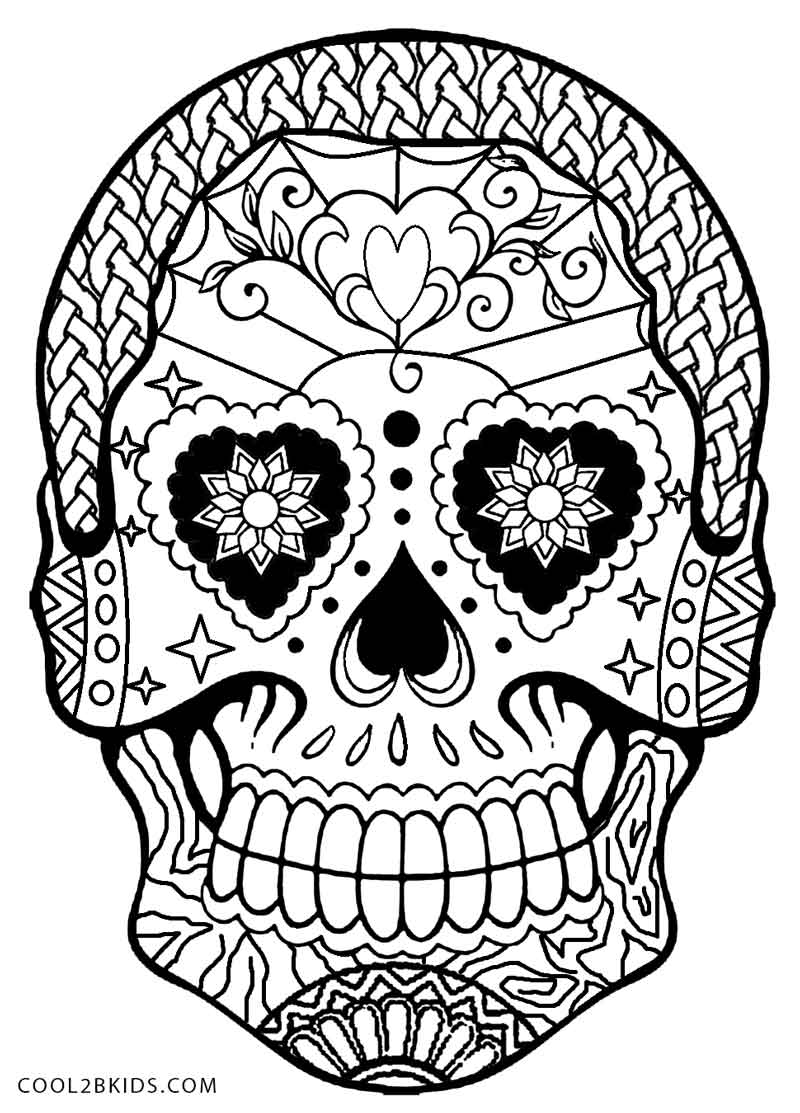 coloring skull for kids free printable day of the dead coloring pages best for skull kids coloring