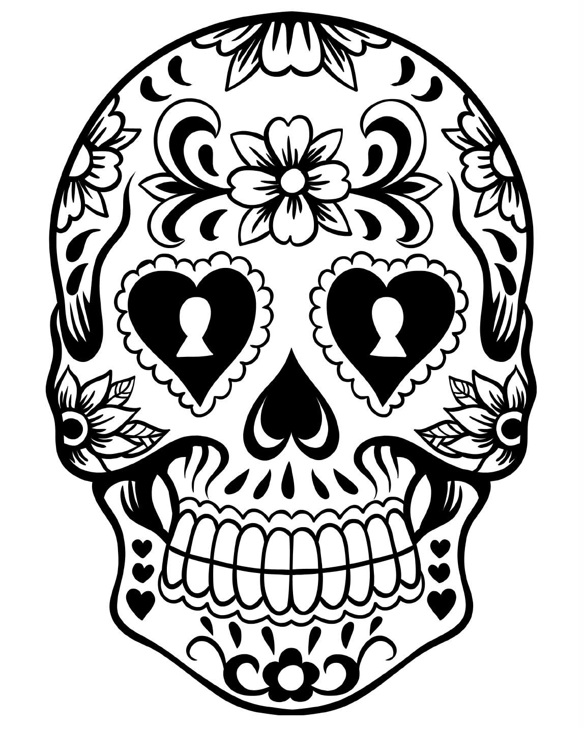 coloring skull for kids free printable day of the dead coloring pages best kids skull for coloring
