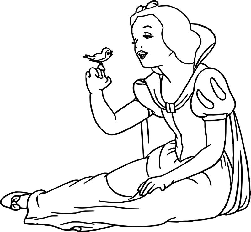 coloring snow white birds coloring page snow white and a bird white birds coloring snow