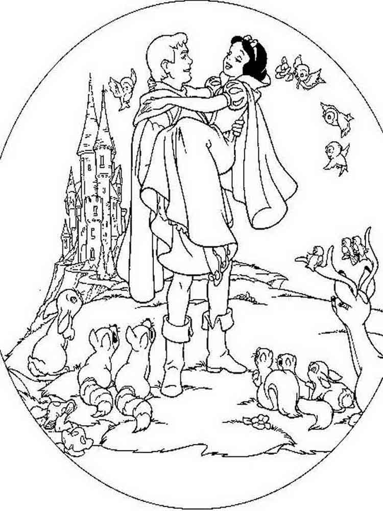 coloring snow white birds snow white coloring page for kids color luna birds white coloring snow