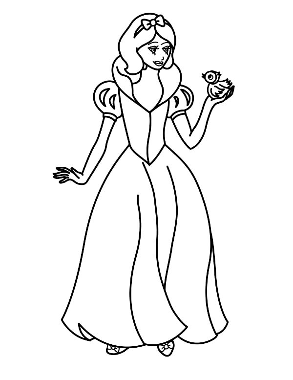 coloring snow white birds snow white playing with bird on disney princesses coloring coloring snow birds white