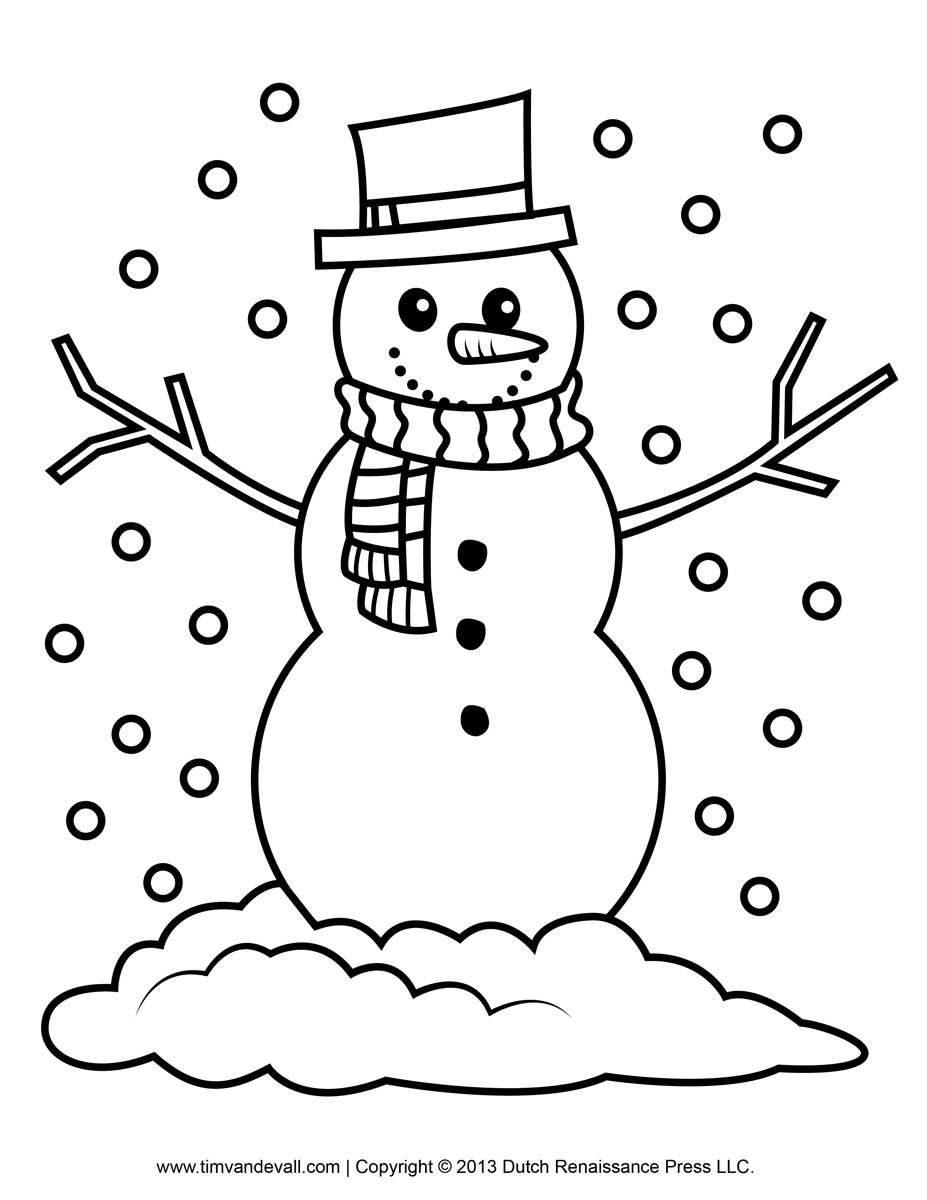 coloring snowman outline snow man line drawing at getdrawings free download outline coloring snowman