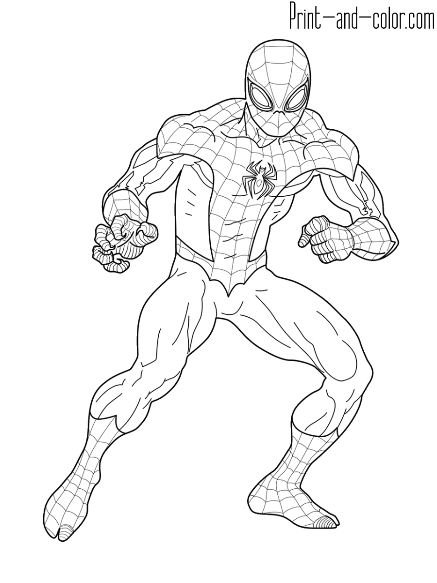 coloring spiderman color coloring pictures of spiderman pictures gallery show color spiderman coloring