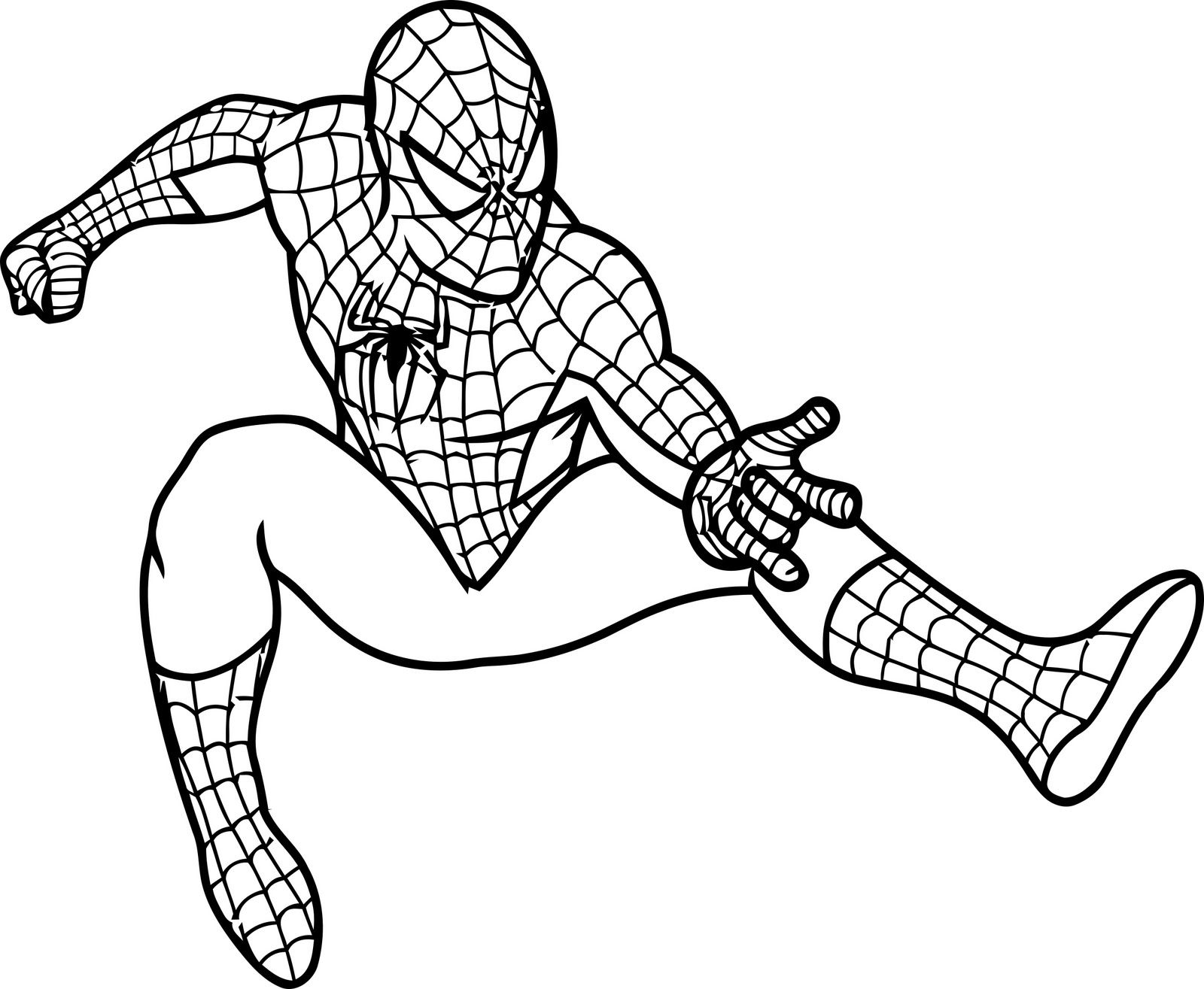 coloring spiderman color printable spiderman coloring pages at getdrawings free coloring color spiderman