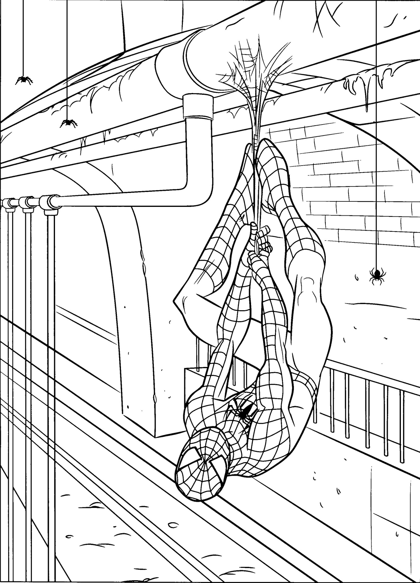 coloring spiderman spiderman coloring page download for free print coloring spiderman