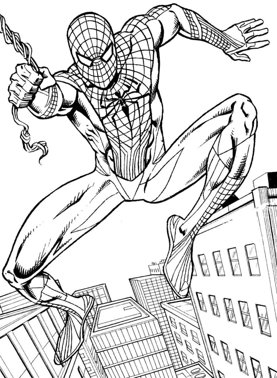 coloring spiderman spiderman coloring pages the sun flower pages spiderman coloring