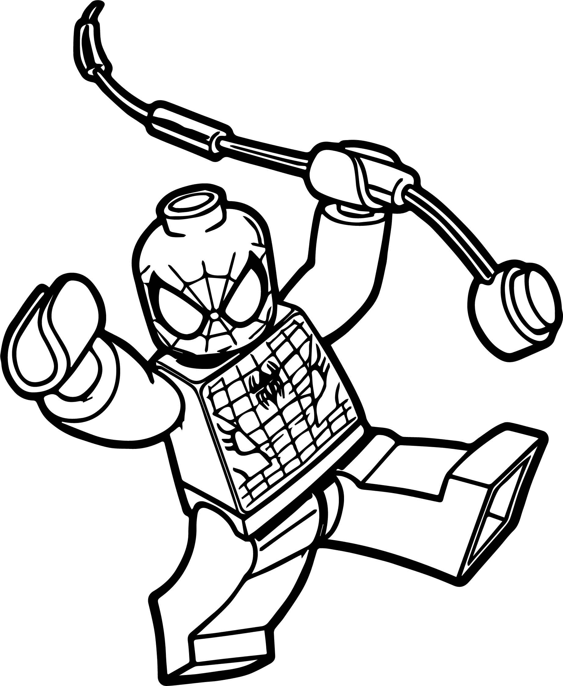 coloring spiderman spiderman outline drawing at getdrawings free download coloring spiderman