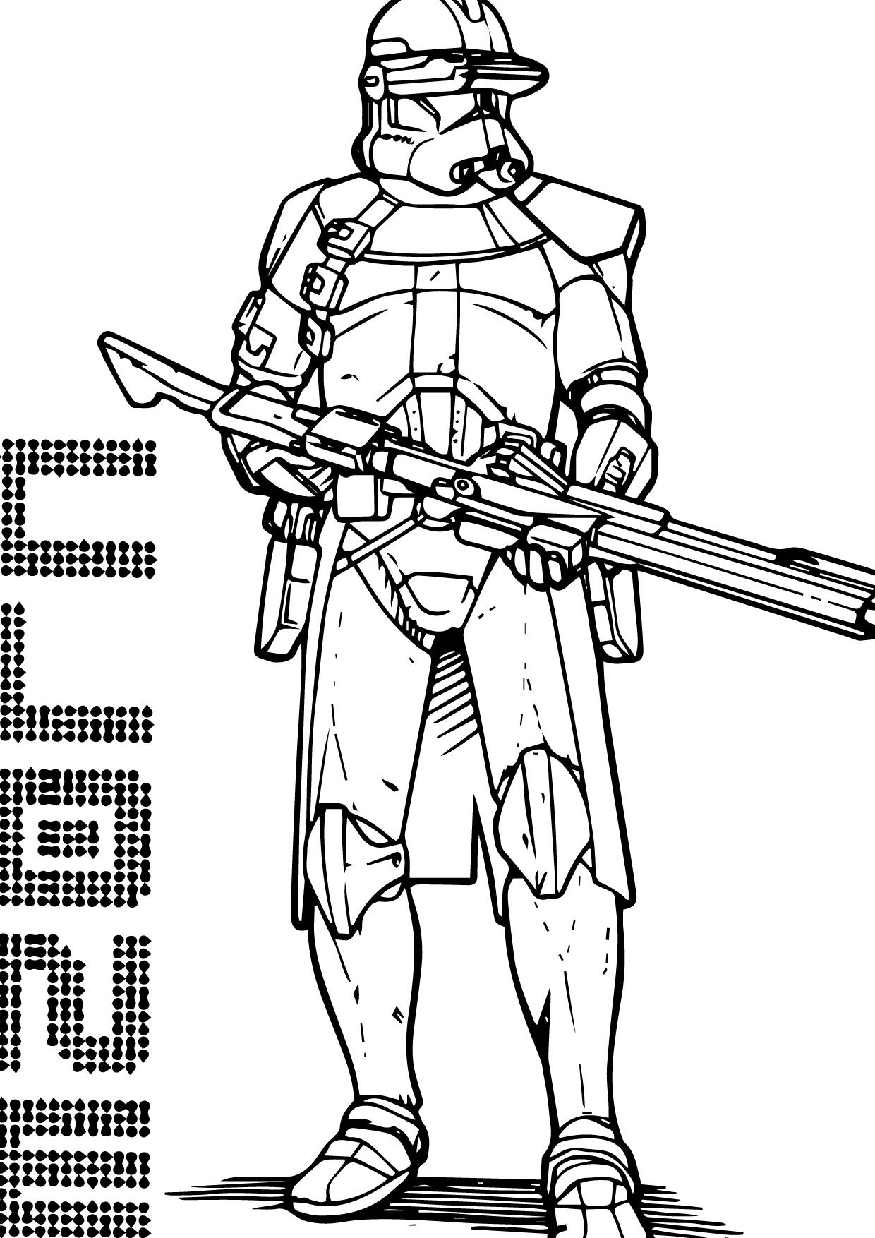 coloring star wars clone the clone troopers standby in star wars coloring page coloring wars star clone