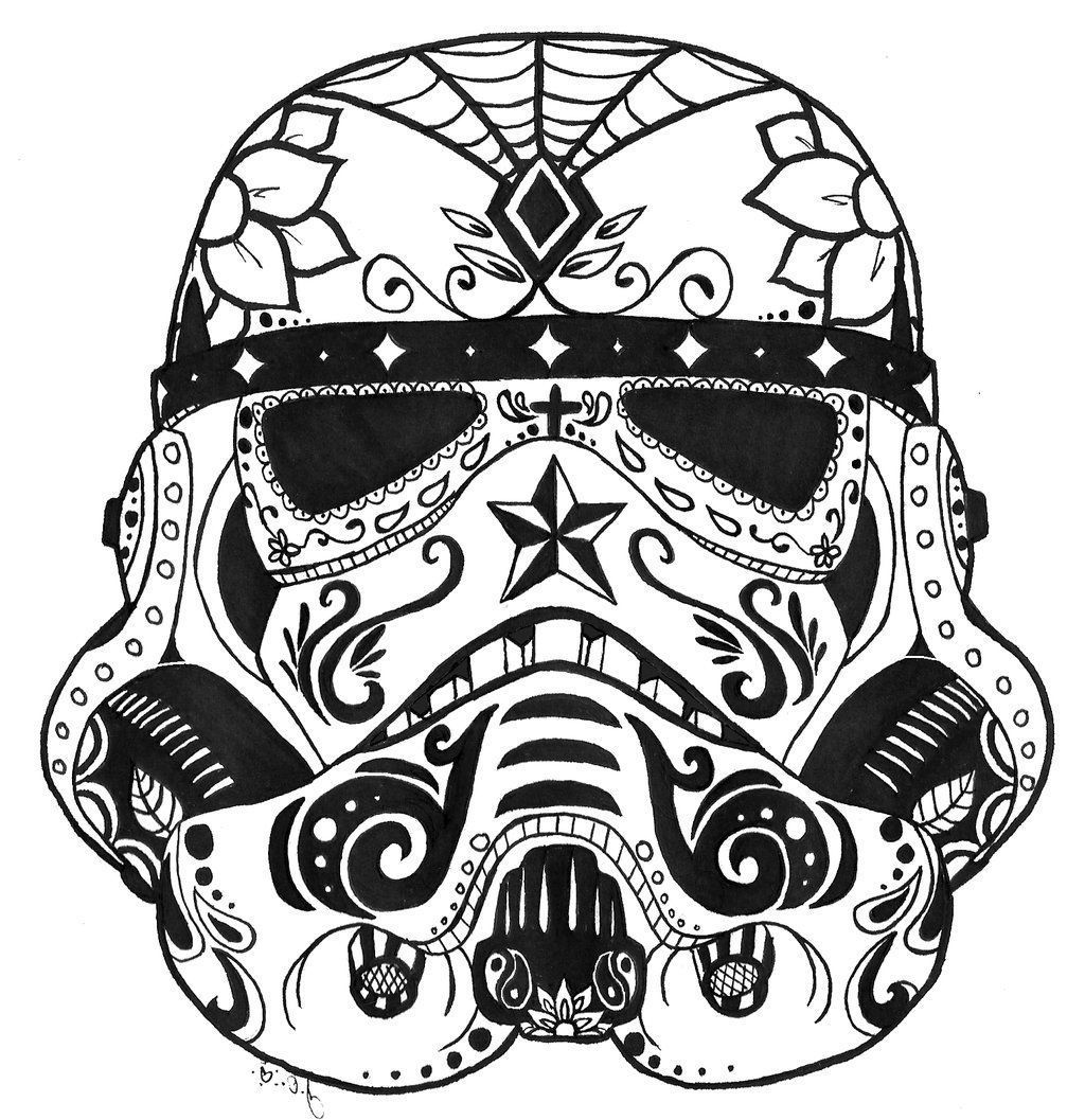 coloring star wars sugar skull star wars sugar skull coloring pages free coloring library star wars skull sugar coloring