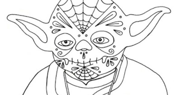 coloring star wars sugar skull star wars zentangle art abytorres art star wars wars coloring skull star sugar
