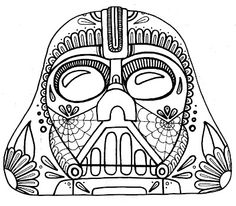 coloring star wars sugar skull sugar skull by omardeath calavera coloring pages printable wars skull star sugar coloring
