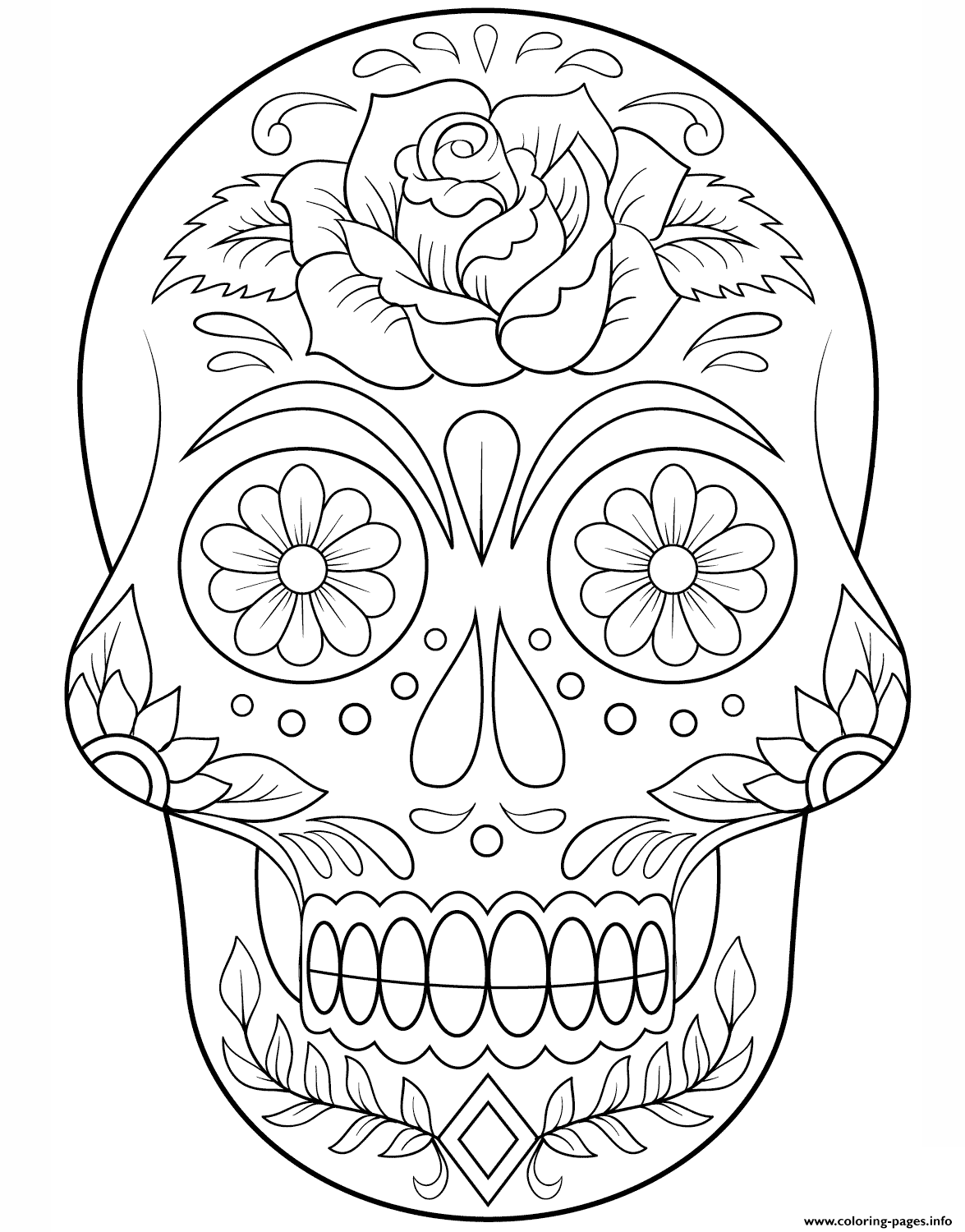 coloring star wars sugar skull sugar skull with mustache calavera coloring pages printable skull star coloring wars sugar