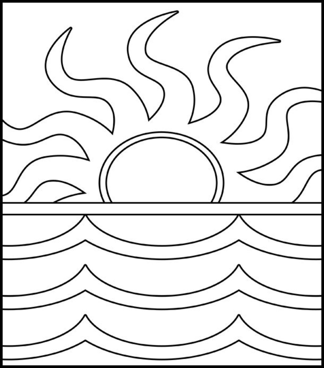 coloring sunset beach sunset coloring pages at getdrawings free download coloring sunset