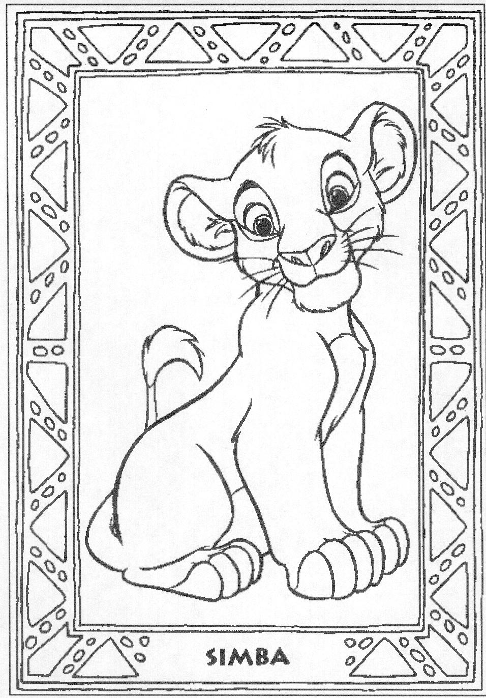coloring the lion king the lion king coloring pages disneyclipscom king coloring lion the