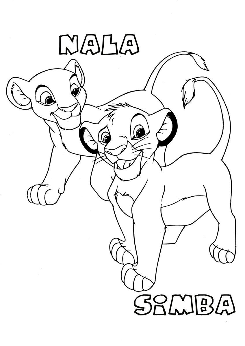 coloring the lion king the lion king coloring pages disneyclipscom king the coloring lion