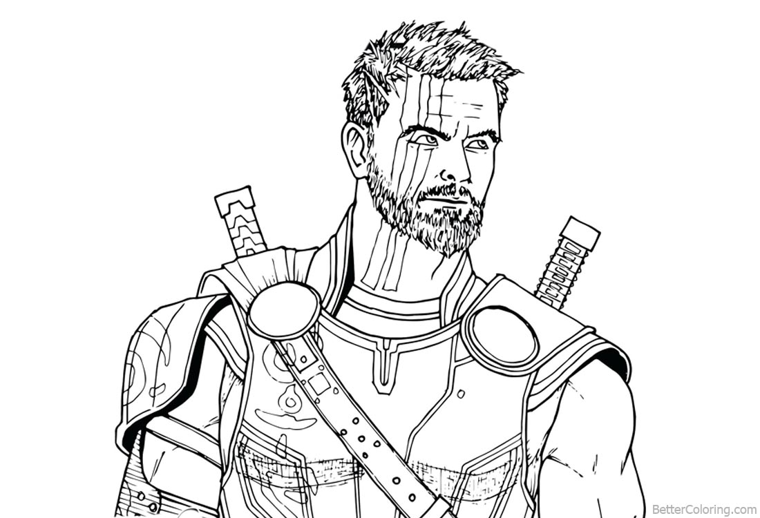 coloring thor outline avengers infinity war coloring pages thor drawing free outline coloring thor