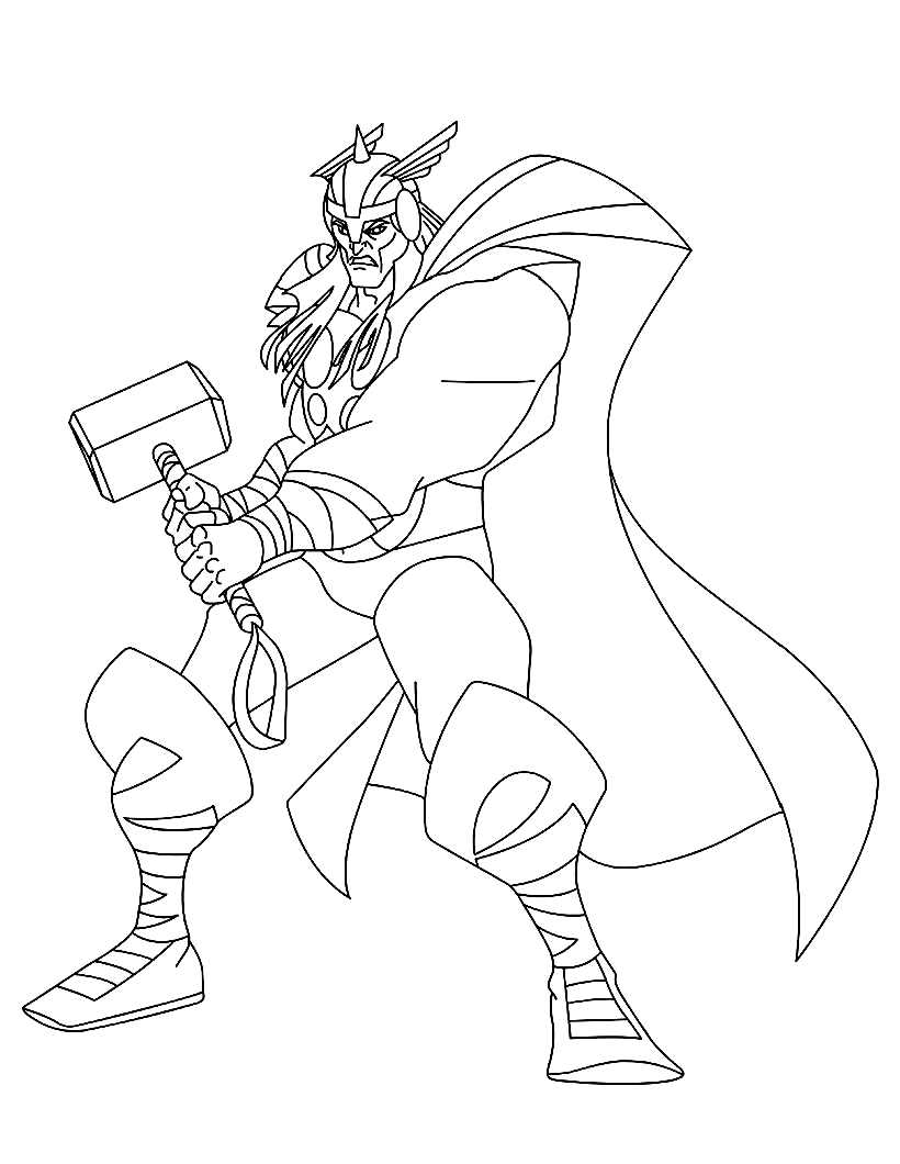 coloring thor outline avengers7 bzf coloriage de thor coloriages pour enfants outline thor coloring