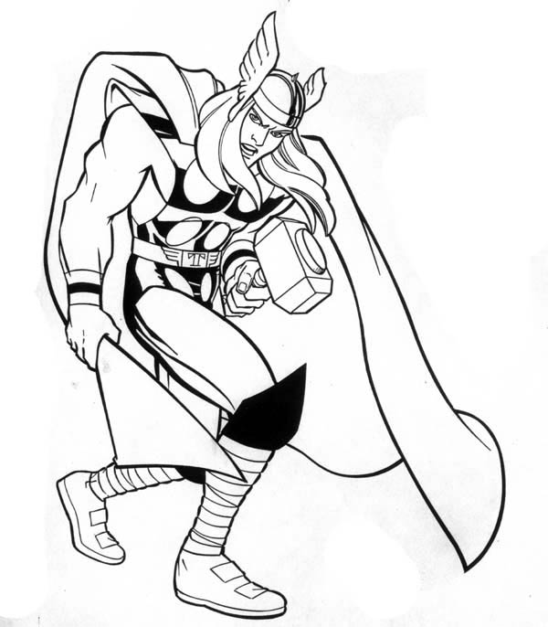 coloring thor outline marvel hero thor coloring page netart coloring thor outline