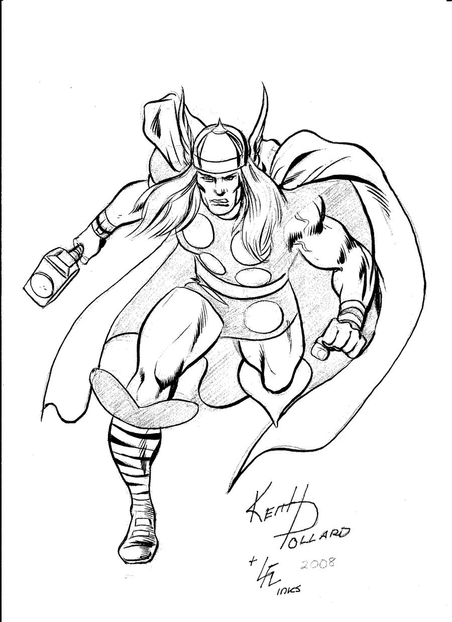 coloring thor outline mighty thor by leolaino76 on deviantart thor outline coloring