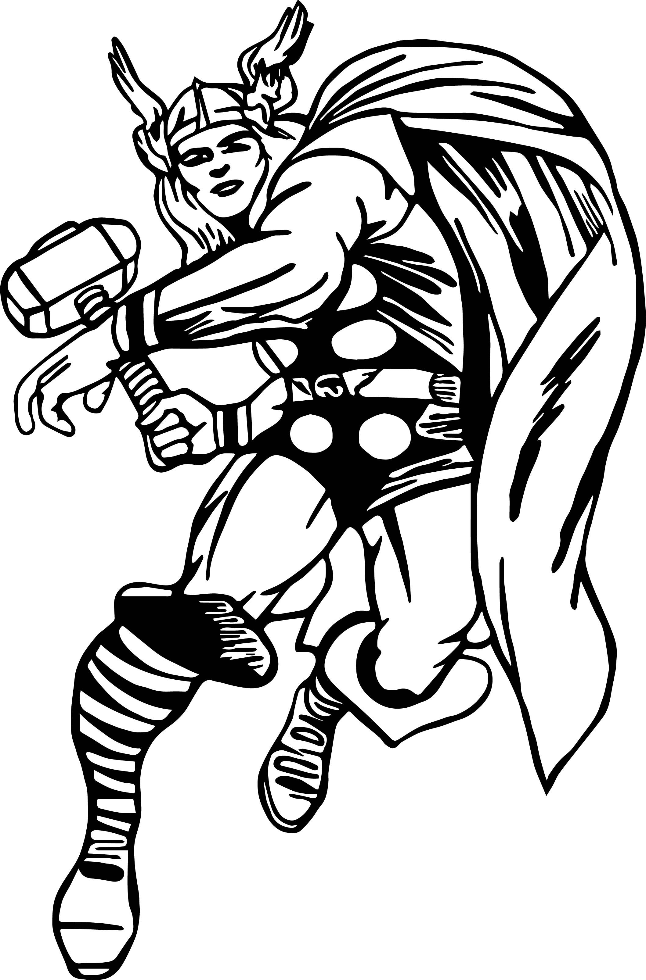 coloring thor outline nice captain thor coloring page superhero coloring pages coloring outline thor