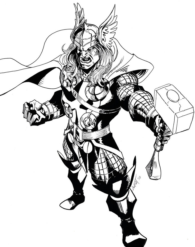 coloring thor outline pin on tattoo ideas outline thor coloring