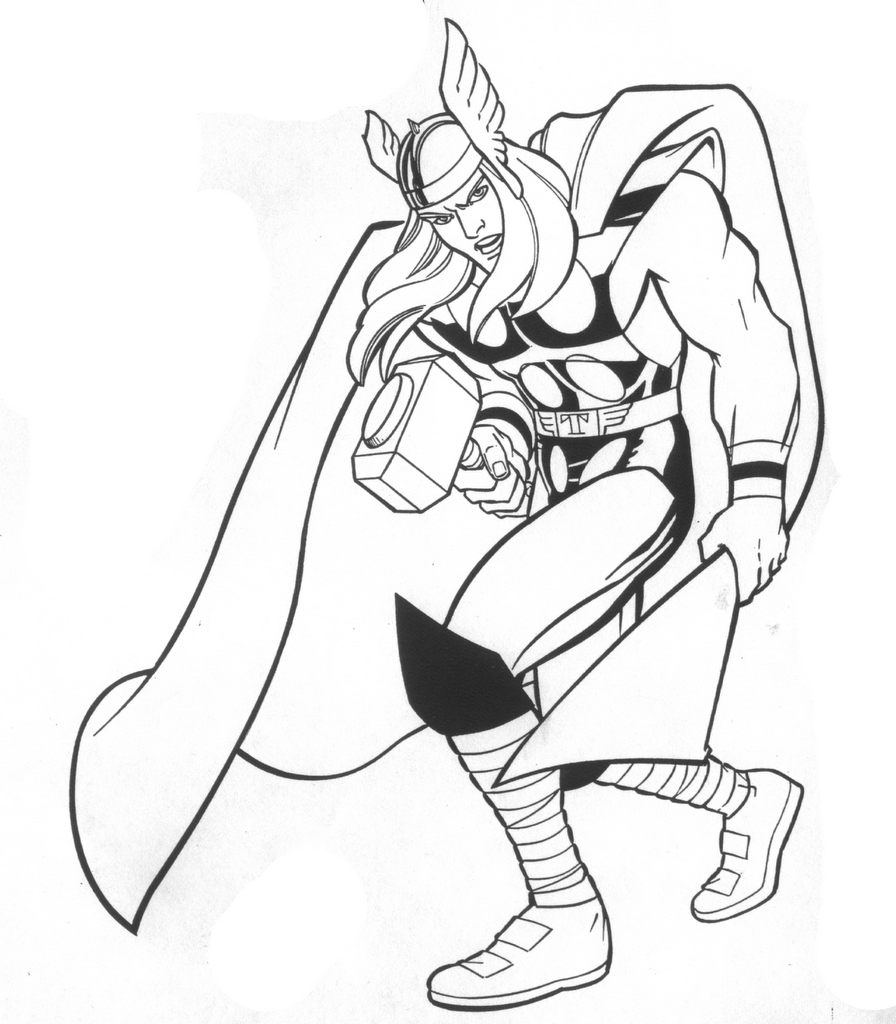 coloring thor outline scott koblish drawing of thor coloring outline thor
