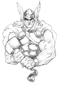 coloring thor outline step by step how to draw thor face drawingtutorials101com outline thor coloring
