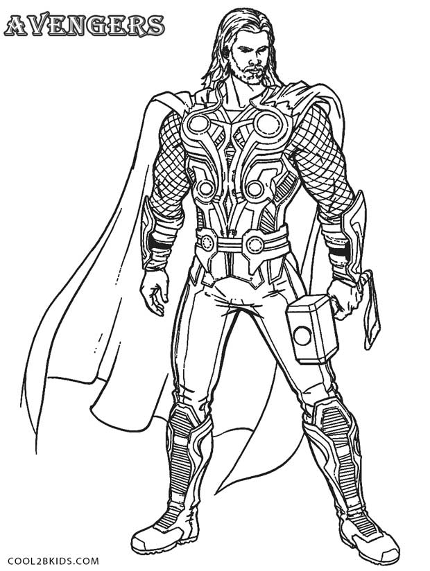 coloring thor outline thor coloring pages getcoloringpagescom coloring thor outline