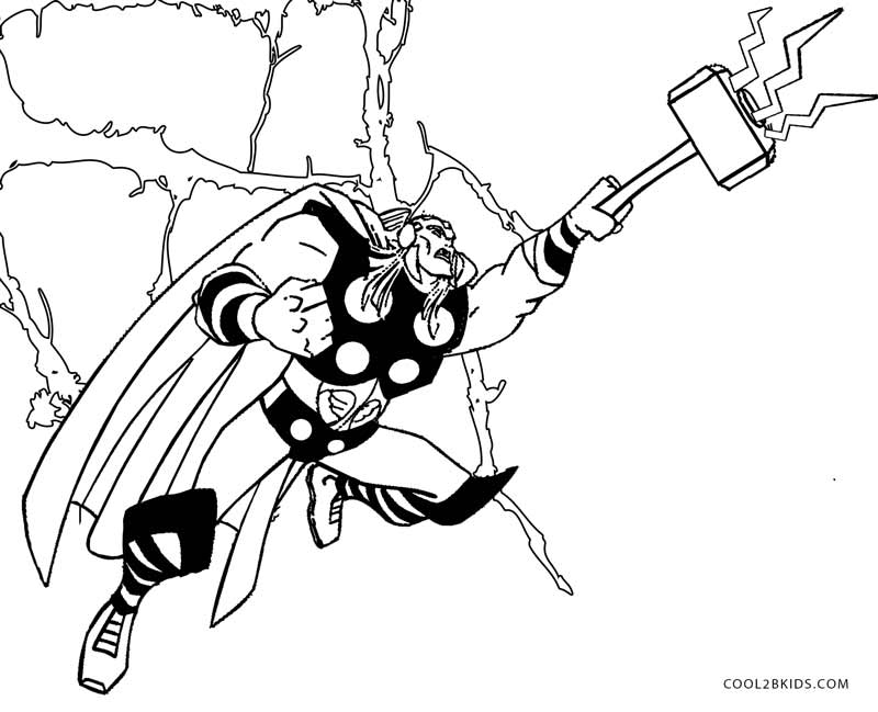 coloring thor outline thors hammer drawing at getdrawings free download thor outline coloring
